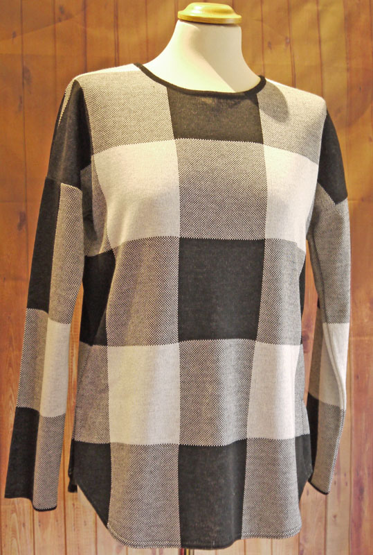 Black Cream Chequered Jumper