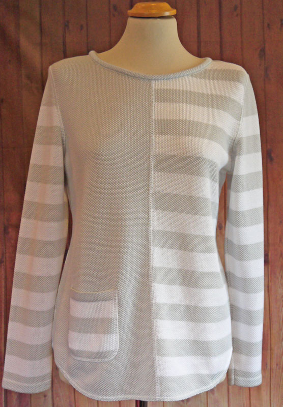 Grey White Stripe Jumper