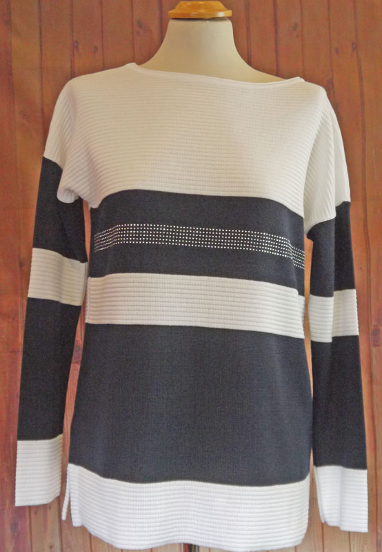Navy and White Jumper