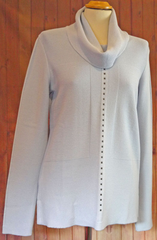 Pale Blue Roll Neck Jumper