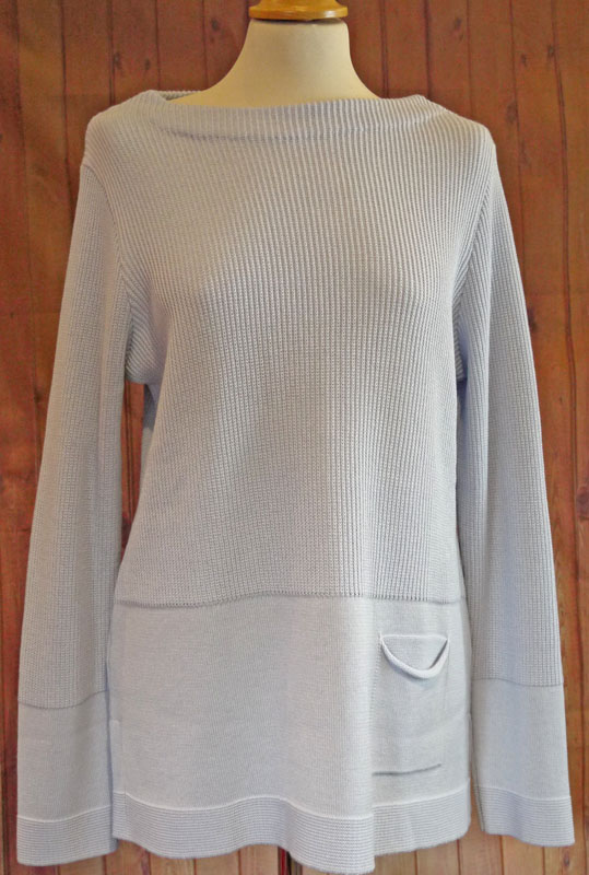 Pale Blue round Neck Jumper
