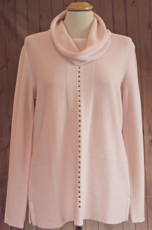 Pale Pink Roll Neck Jumper