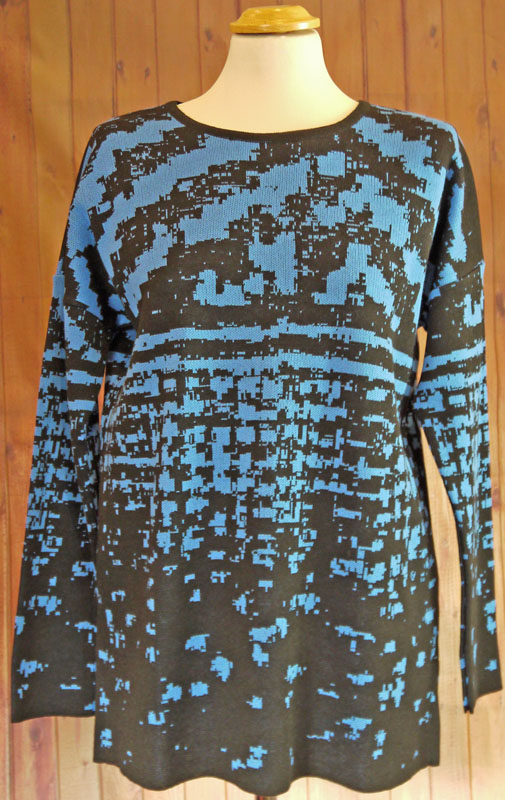 Royal Blue and Black Dogtooth Jumper