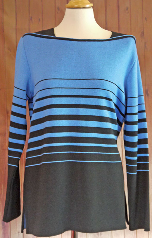 Royal Blue and Black Jumper